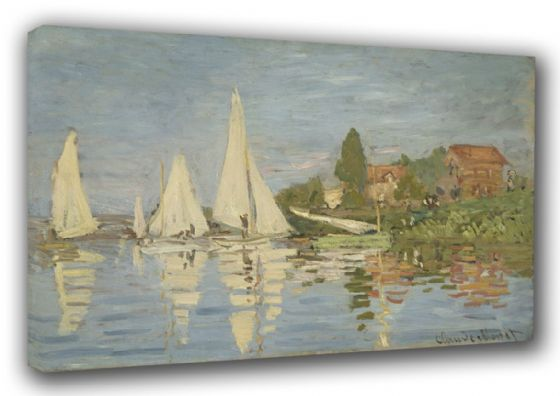 Monet, Claude: Regatta at Argenteuil. Fine Art Sailing Canvas. Sizes: A3/A2/A1 (003220)